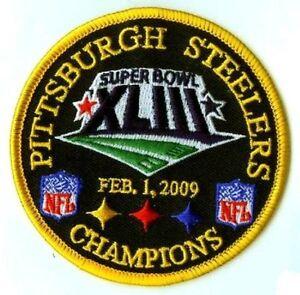 Nfl super bowl xliii sb 43 pittsburgh steelers jersey championship.