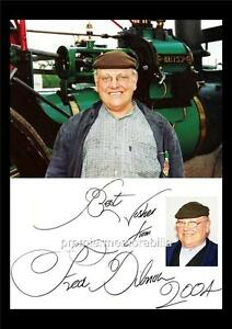 Fred Dibnah 7 English Steeplejack TV Personality Star Poster Black White Picture