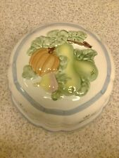 vintage decorative ceramic/pottery wall hanging jelly moulds garden vegetables