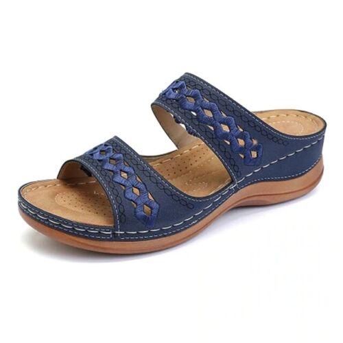Sandalias de mujer Cuñas de moda para mujer Zapatillas Verano tacones Sandalias