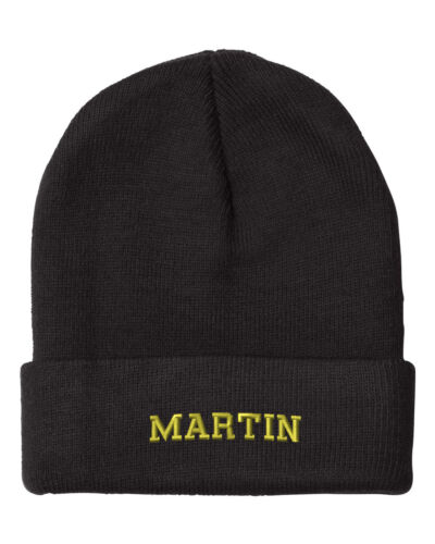 MARTIN LAST NAME Embroidery Embroidered Beanie Skull Cap Hat
