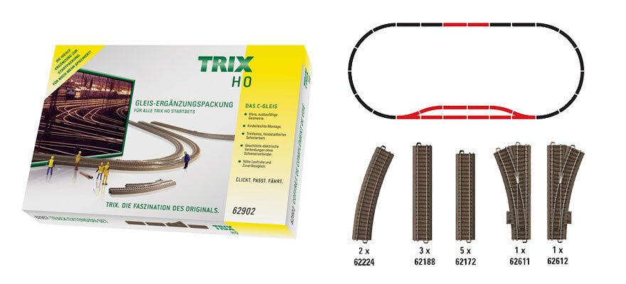 Trix ho 62902 C-vía-complemento envase c2 nuevo