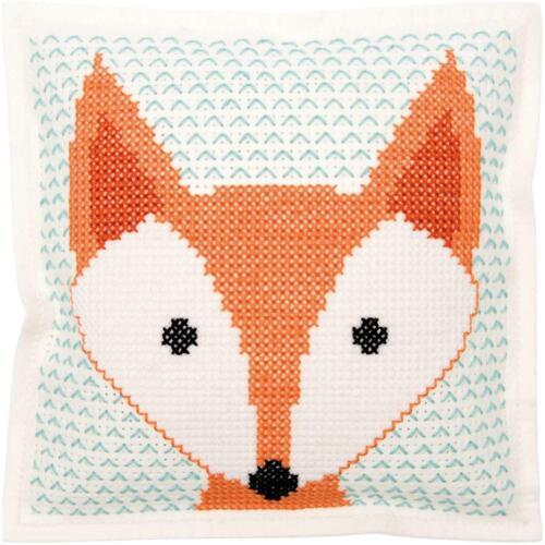 Fox Felt Cushion  Kit Rico Design Counted Cross Stitch Kit