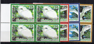 Australia-Isla-Norfolk-2002-Navidad-Blanco-charran-estampillada-sin-montar-o-nunca-montada-bloques