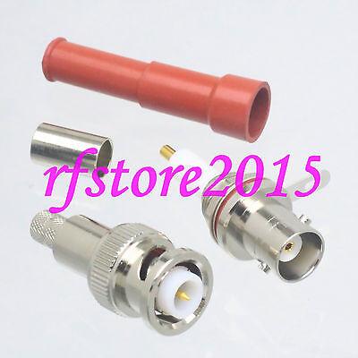 1pce Connector MHV 3000V 3KV BNC male plug crimp RG59 LMR200 RG62 RF COAXIAL