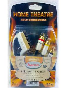 Hama-Verbindungskabel-1-Scart-Stecker-IN-OUT-3-Cinch-2m-24K-hartvergoldete