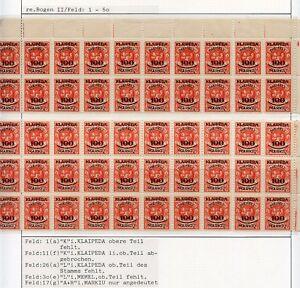 Memel-Nr-127-Studie-auf-6-Albenseiten-in-Einheiten-mit-Plattenfehlern-C0187