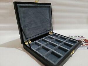 Cofanetto-astuccio-in-legno-per-monete-12-caselle-40x40-mm-in-velluto-Italiano