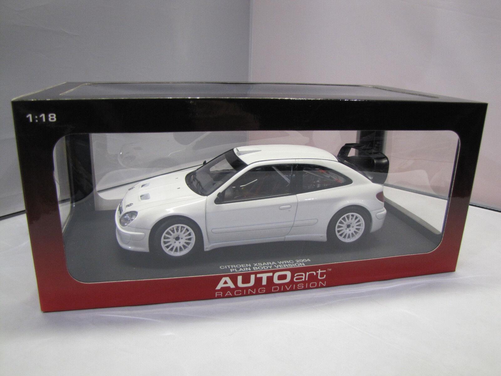80439 Autoart CITROEN XSARA WRC 2004 Plain Body Versione (bianca) - 1 18