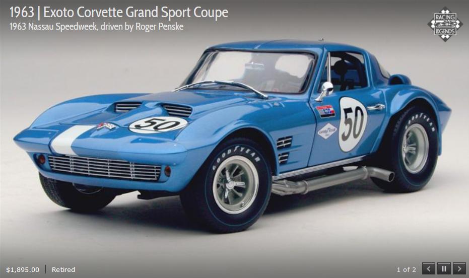 promociones de equipo Exoto 63 Corvette Grand Grand Grand Sport 50 NassauSpeedweek Penske RLG18024 1:18 Nuevo En Caja  gran venta