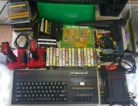 Zx Spectrum+2 plus two 128K computer console games bundle, joysticks & light gun