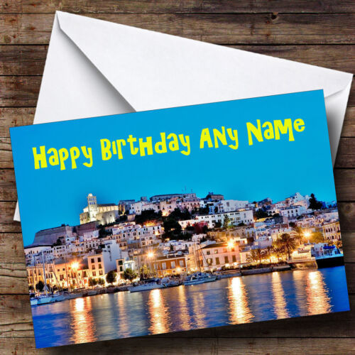 Ibiza Personalised Birthday Greetings Card