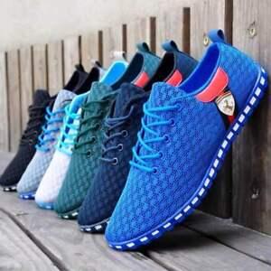 Nuevo-Para-hombres-Zapatos-Moda-Zapatos-de-entrenamiento-informales-lona-Moda