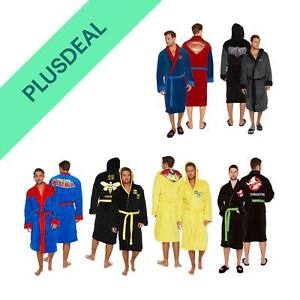 Herren Bademantel Spiderman Batman Superman Breaking Bad Sauna Morgenmantel neu