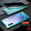 thumbnail 2 - Magnetic Full Glass Anti Spy Case For Galaxy S21 S20 S10 S9 S8 Plus Note 20 10 9