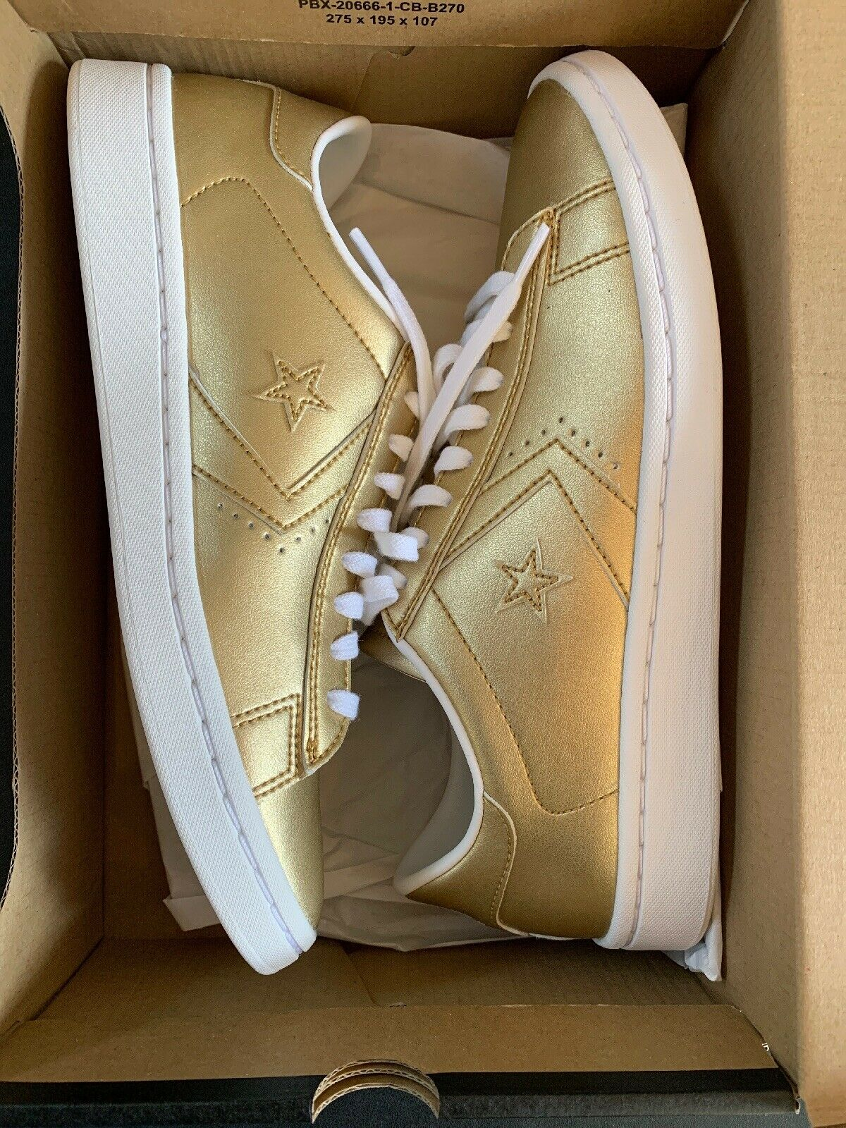 Converse Pro Pro Pro Leather LP Metallic gold Sneaker Woman shoes New NWT Size 7.5 5c4d09