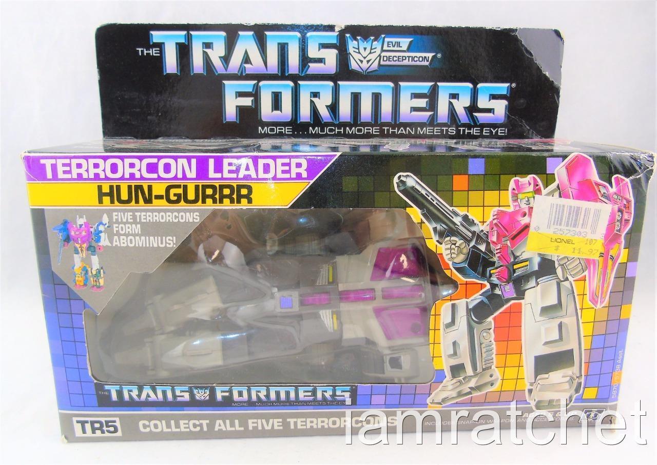 la red entera más baja Transformers Original G1 Terrorcon Hun-Grrr Para Para Para abonimus completo con caja de burbuja  moda