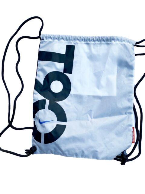 New NIKE T90 Total 90 Football Backpack Gymsack White Black
