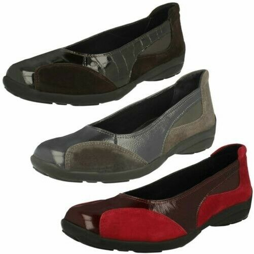 Ladies Easy B Wide Fitting Slip On Flat shoes Ripon