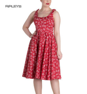 Hell-Bunny-Rockabilly-MARIN-50s-Dress-Nautical-Sailor-Red-All-Sizes