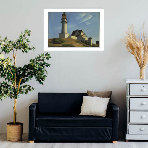 Edward Hopper Lighthouse at Two Lights Wall Art Poster Print