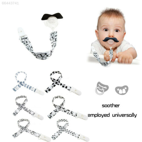 AD65 Baby Safe Kids Boy Girl Dummy Pacifier Soother Chain Clip Holders Strap