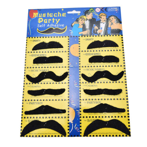 Details about  /Novelty Black And Colorful Fake Mustaches Funny Toy For Boys Girls And TeensY fr