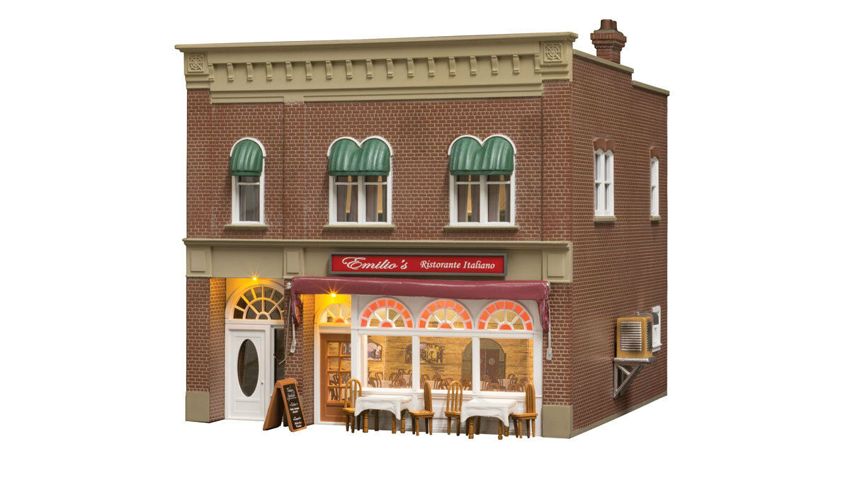 O Woodland Scenics  Built Up  5855 * Emilio's Italian Restaurant * NIB