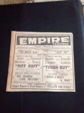 65-1 Ephemera 1936 Advert Jean Harlow Riff Raff  Empire Cinema Swindon