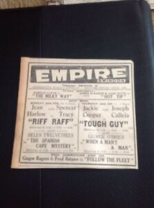 651 Ephemera 1936 Advert Jean Harlow Riff Raff  Empire Cinema Swindon - <span itemprop=availableAtOrFrom>Leicester, United Kingdom</span> - Returns accepted Most purchases from business sellers are protected by the Consumer Contract Regulations 2013 which give you the right to cancel the purchase within 14 days after the da - Leicester, United Kingdom