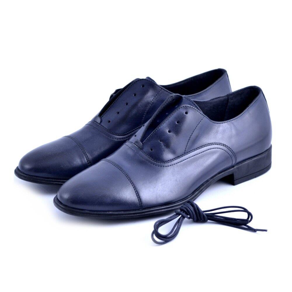 slipon lacci Chaussure s blu Soldini   Femme pelle leather blu s casual elegante 2a36df