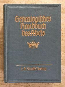Genealogisches-Handbuch-des-Adels-ADELIGE-HAUSER-B-Band-III-1958-Band-17