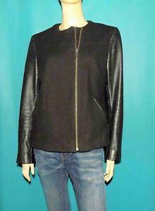 OAKWOOD veste femme teddy en cuir et laine noir taille 42 fr