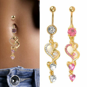 Wholesale-Rhinestone-Crystal-Flower-Navel-Belly-Button-Ring-Body-Piercing-Jewely