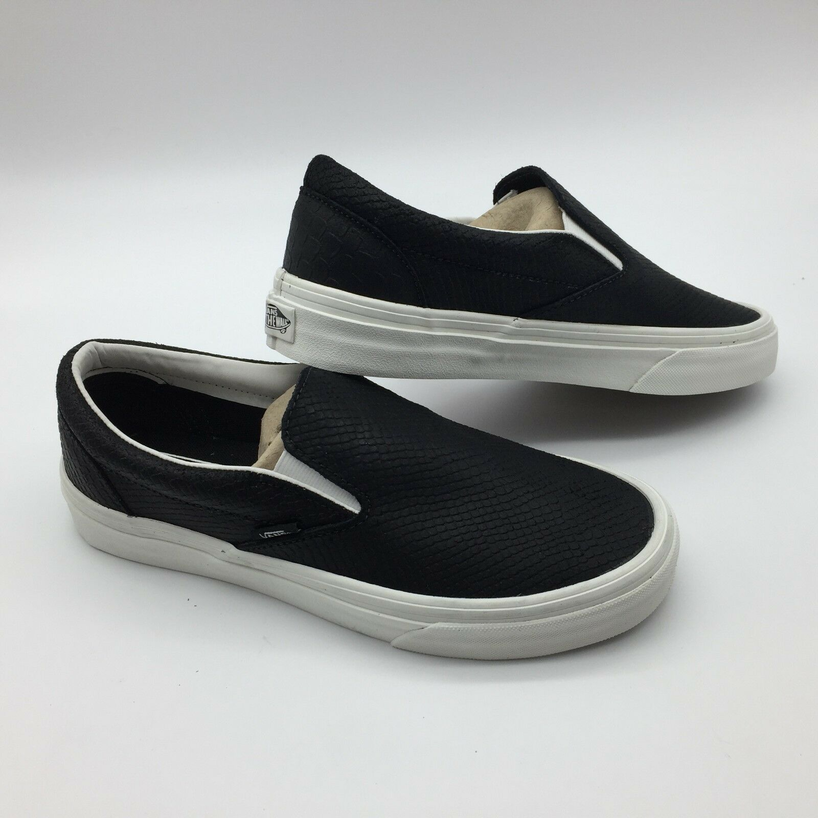 Vans Para hombres Zapatos Classic Classic Classic Slip-on -- (snake) Negro/Blanc 797ff6