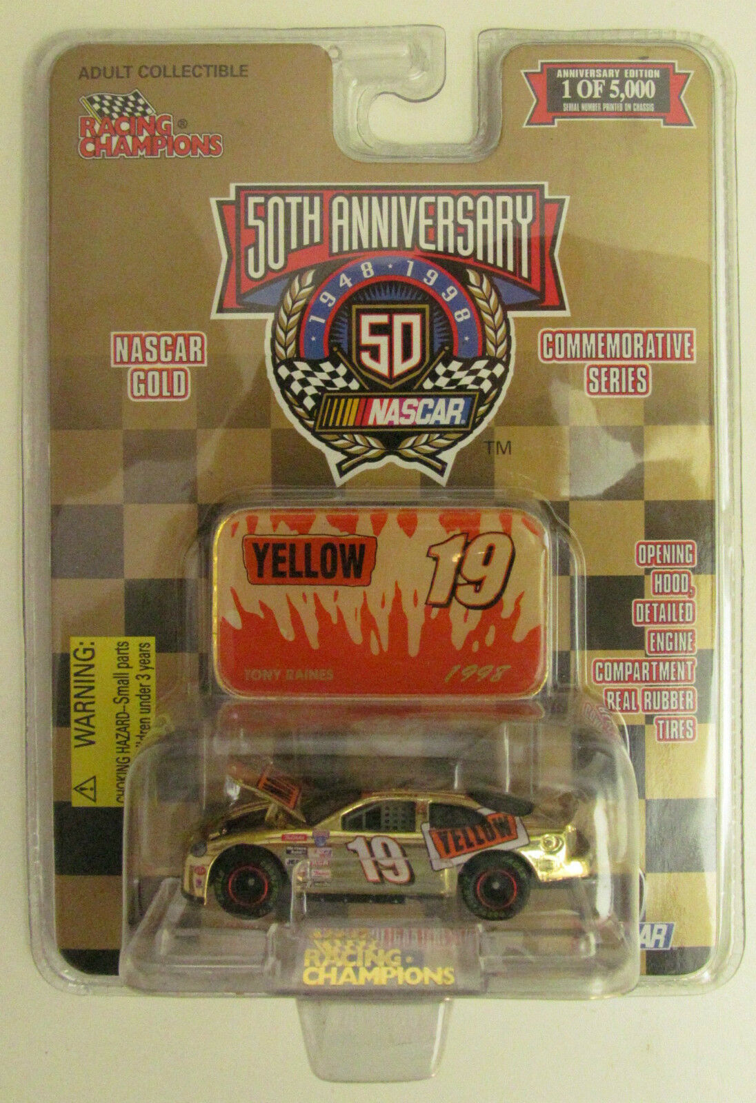 Racing Champions, 1998 Tony Raines ( 5000)  64 gold Diecast