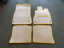 Lexus LS 430 01-06 Velour Beige/Yellow Trim Full Car Mat Set High Quality