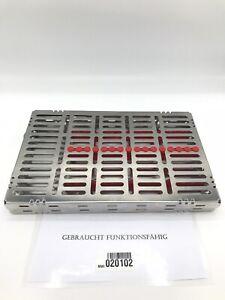 Dental-Zahnarzt-Sterilisationskassette-fuer-Intrumente-gebraucht-in-Topzustand