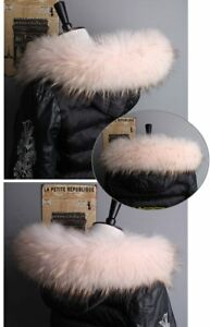 Top-Quality-Real-Pink-Fox-Fur-Collar-Hood-Trimming-Scarf-70-10cm-27-5X4-034-inch-US