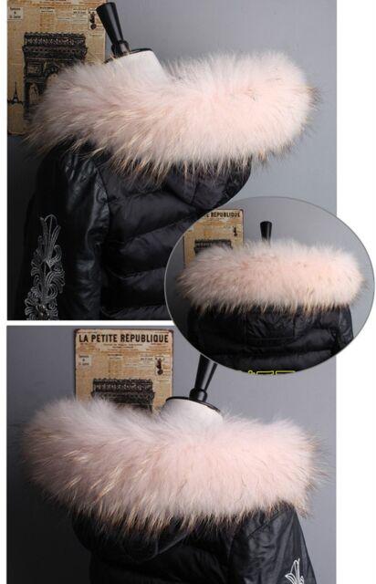 Top Quality Real Pink Fox Fur Collar Hood Trimming Scarf  70*10cm/27.5X4