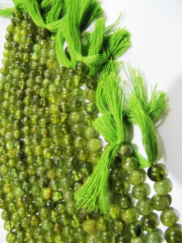 Natural Peridot Round Plain Smooth 5mm Beads Strand 13inch Long Birthstone beads