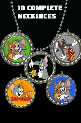 Tom and Jerry necklace party favors lot of 10 complete birthday loot bag