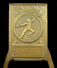 Médaille 1933 Fencing sword épée fleuret escrime medal