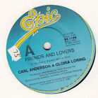 CARL ANDERSON & GLORIA LORING - FRIENDS AND LOVERS - ORIG 45RPM VINYL RECORD
