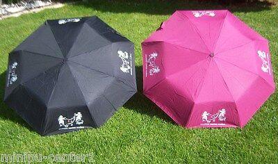 Damen Herren Schirm Klein Taschenschirm Minischirm Regenschirm Engel Derby