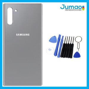 Vitre-arriere-capot-cache-batterie-Gris-avec-Adhesif-Pour-Samsung-Galaxy-Note-10