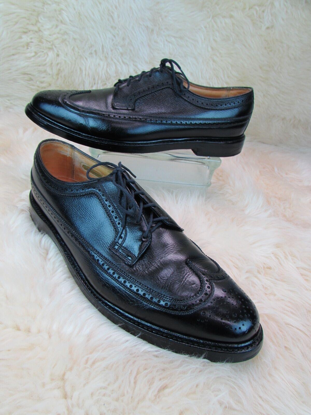 Florsheim Royal Imperial  V-Cleat Wingtip Oxford shoes Black Sz. 12 C