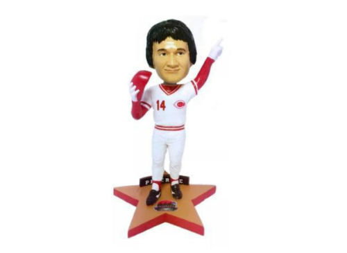 """Pete Rose /""""Stars of the Queen City/"""" Bobblehead SGA 9//12//15 with ticket stub"""