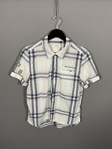 DIESEL-Short-Sleeve-Shirt-Small-Check-Great-Condition-Men-s