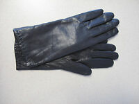 Women's Gloves black leather with lining sz 7.5